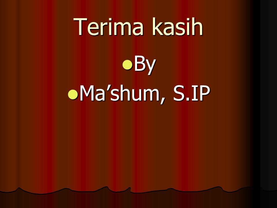 Terima kasih By Ma'shum, S.IP
