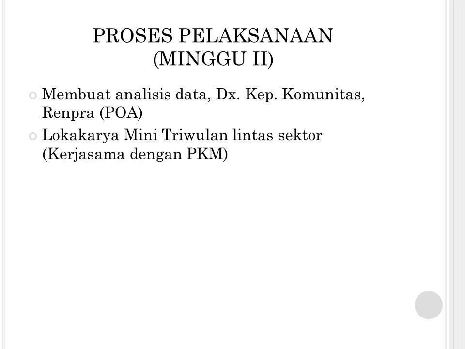 PROSES PELAKSANAAN (MINGGU II)