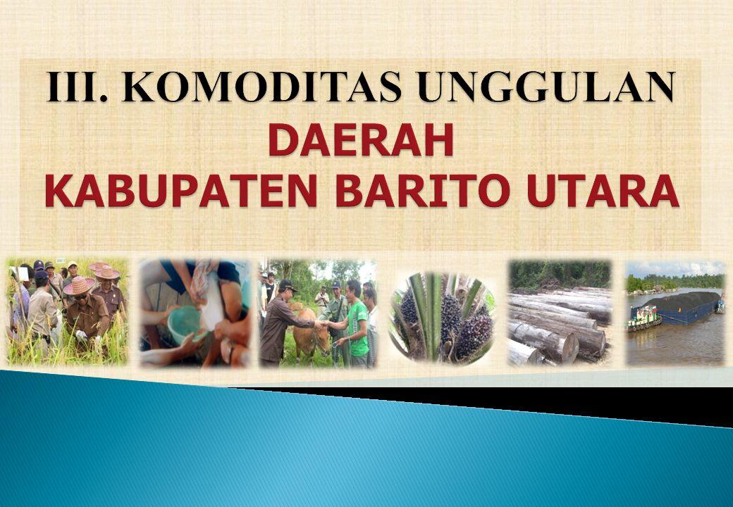 III. KOMODITAS UNGGULAN DAERAH KABUPATEN BARITO UTARA
