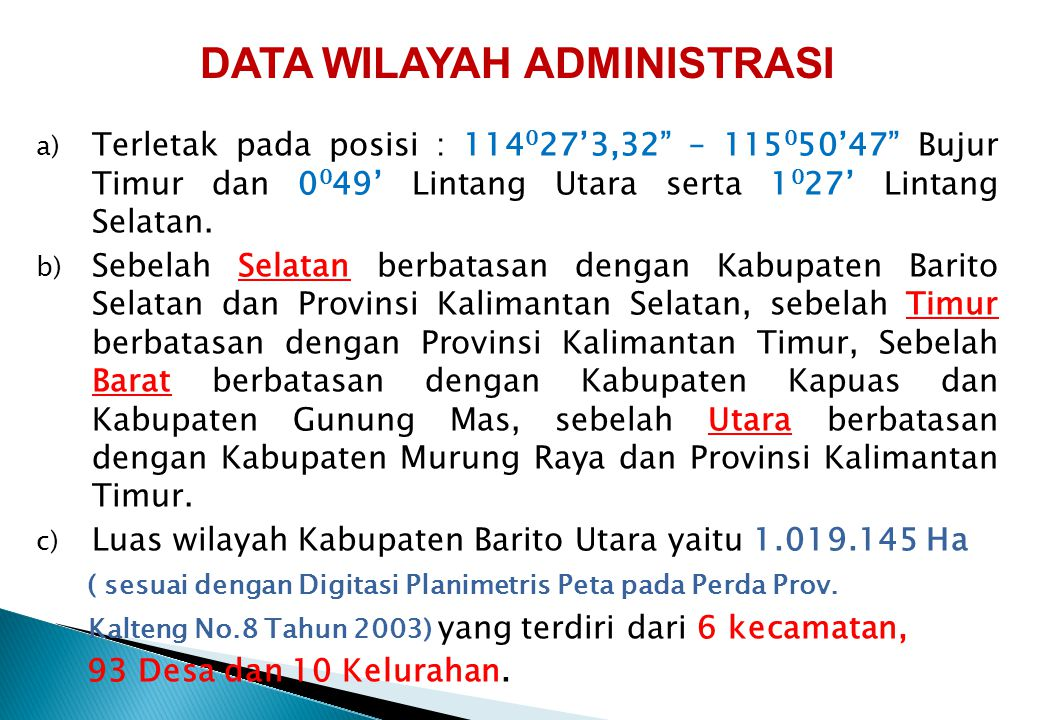 DATA WILAYAH ADMINISTRASI