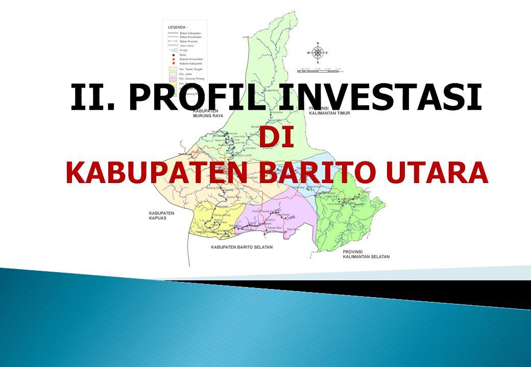 II. PROFIL INVESTASI DI KABUPATEN BARITO UTARA