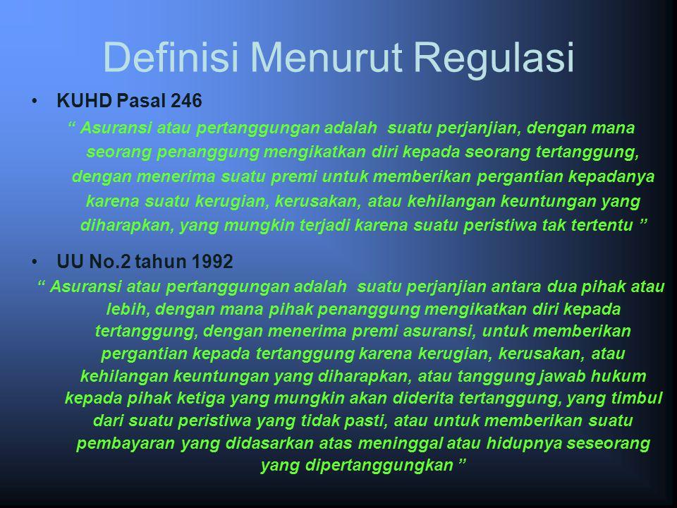 Definisi Menurut Regulasi