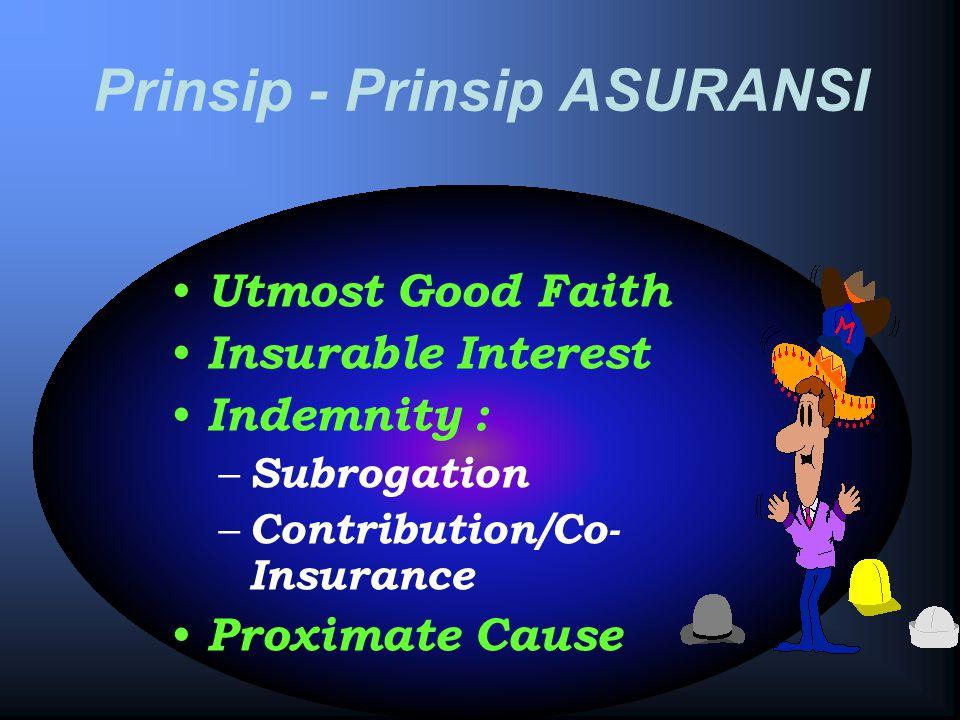 Prinsip - Prinsip ASURANSI