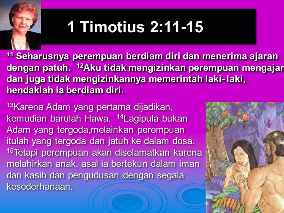 1 Timotius 2:11-15