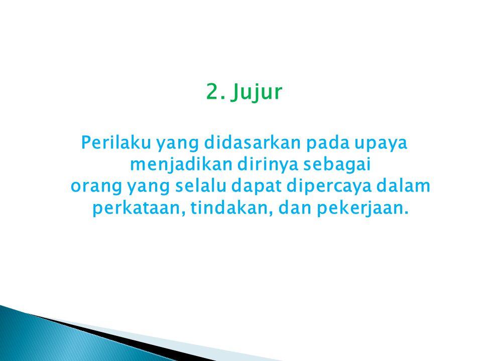 2. Jujur