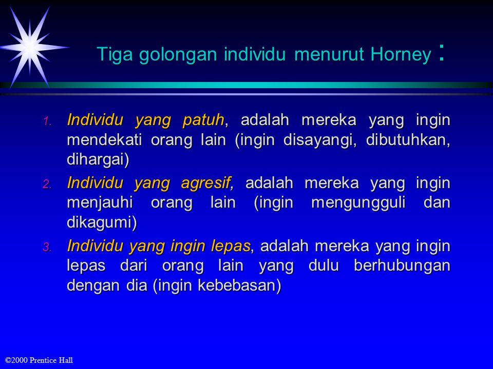 Tiga golongan individu menurut Horney :