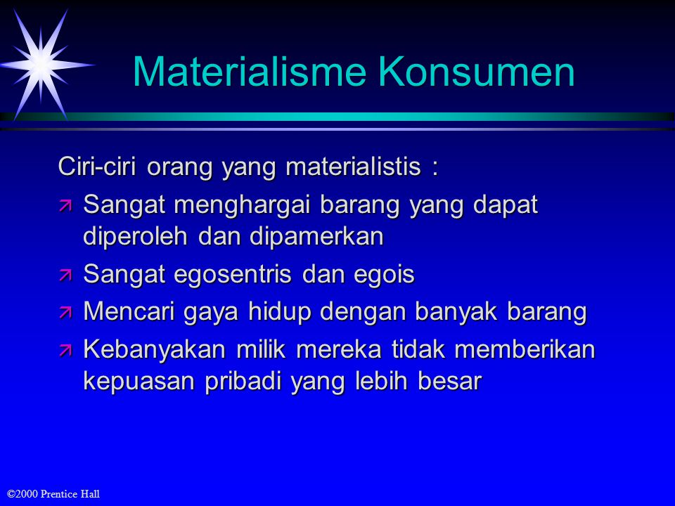 Materialisme Konsumen