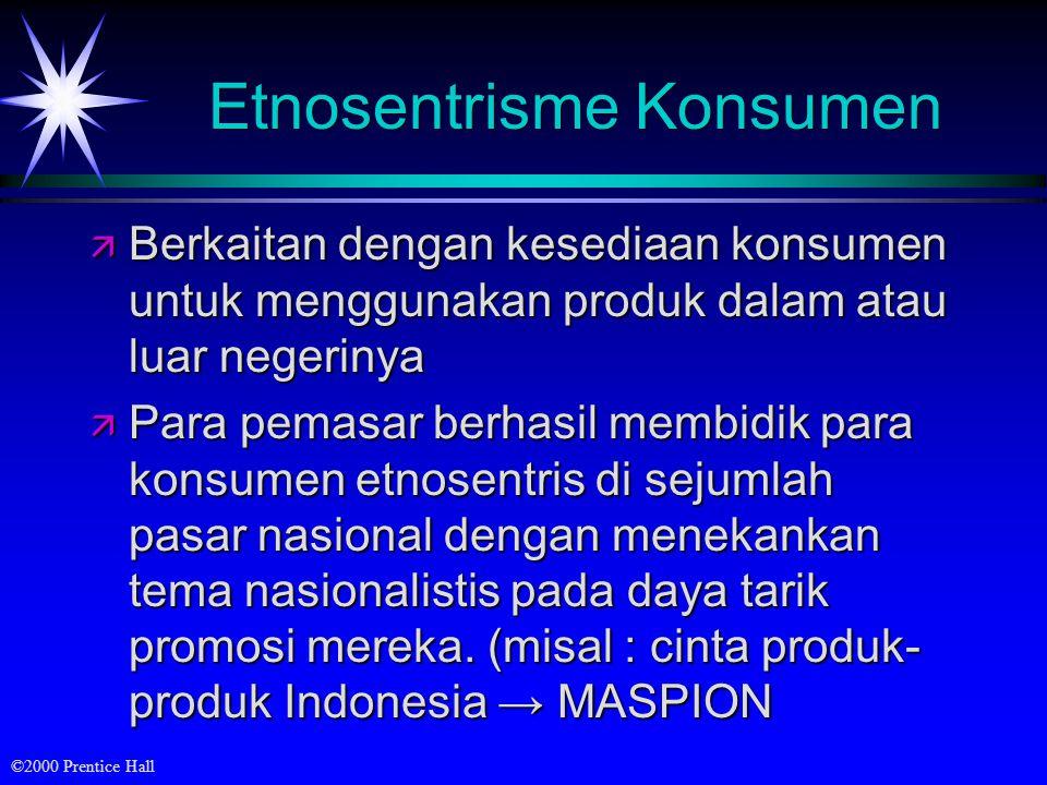 Etnosentrisme Konsumen