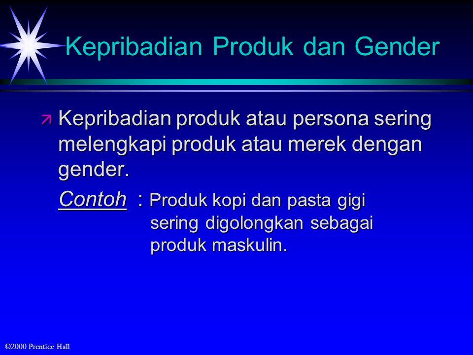 Kepribadian Produk dan Gender