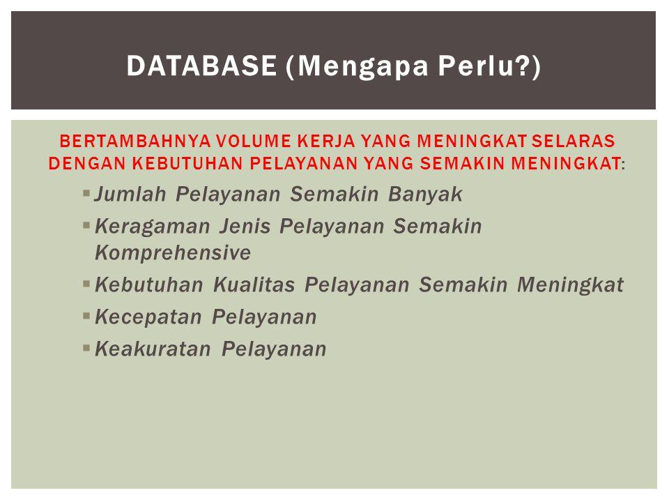 Database (Mengapa Perlu )