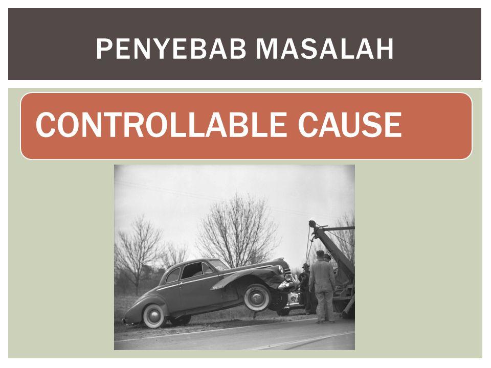 PENYEBAB MASALAH CONTROLLABLE CAUSE