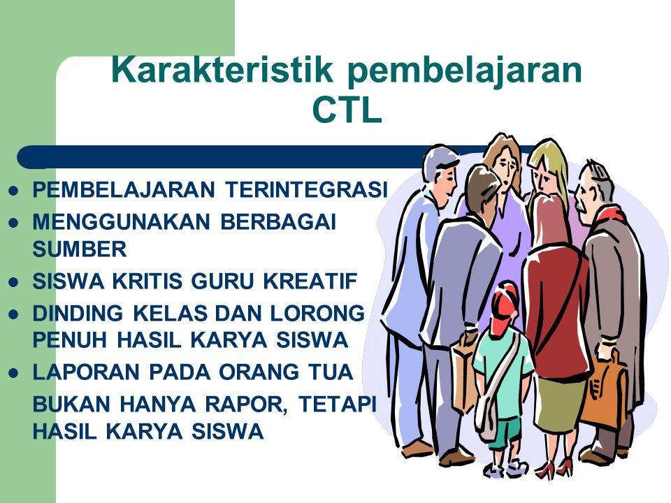 Karakteristik pembelajaran CTL