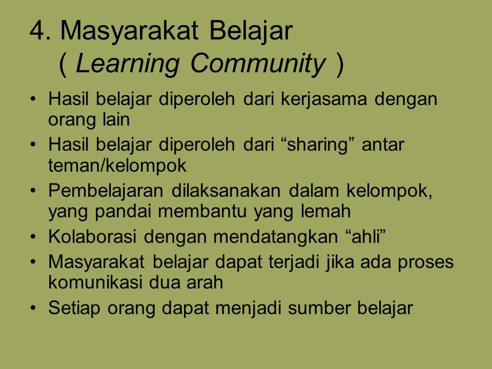 4. Masyarakat Belajar ( Learning Community )