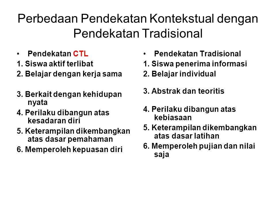 Perbedaan Pendekatan Kontekstual dengan Pendekatan Tradisional