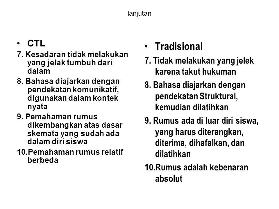 Tradisional CTL 7. Tidak melakukan yang jelek karena takut hukuman