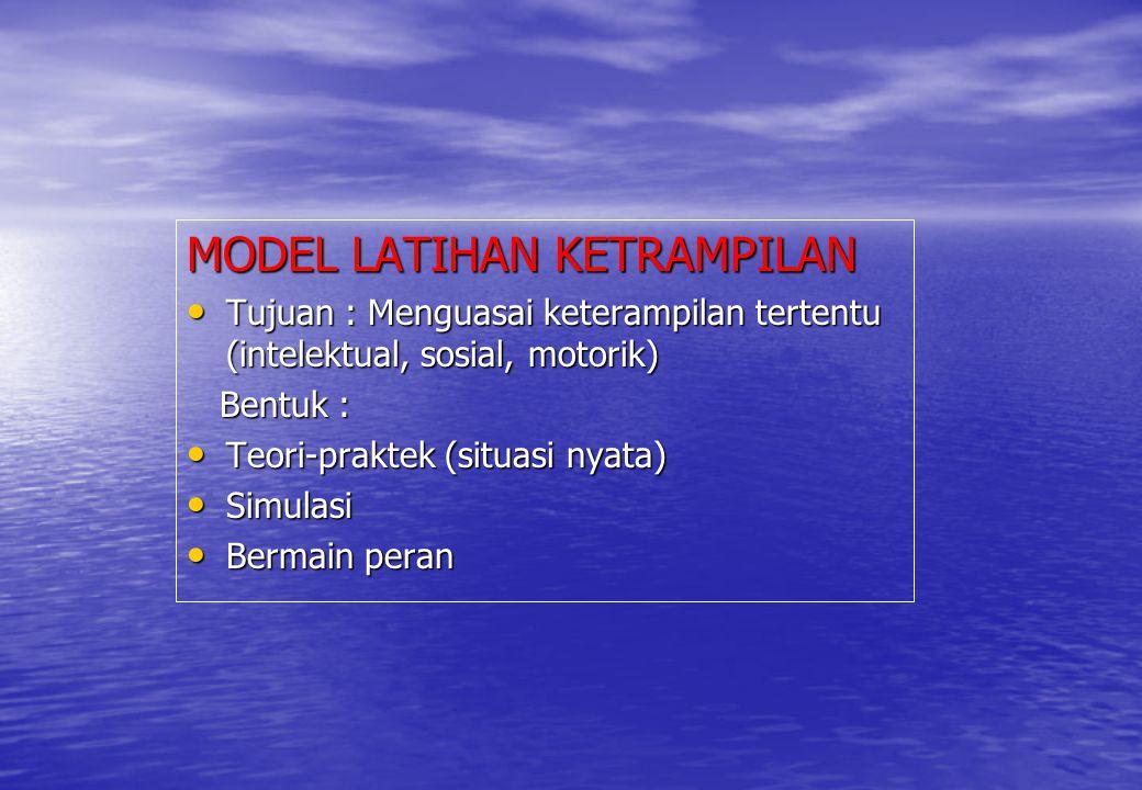 MODEL LATIHAN KETRAMPILAN
