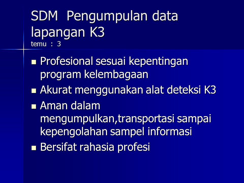 SDM Pengumpulan data lapangan K3 temu : 3