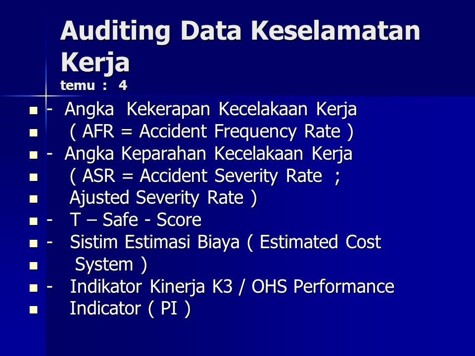 Auditing Data Keselamatan Kerja temu : 4