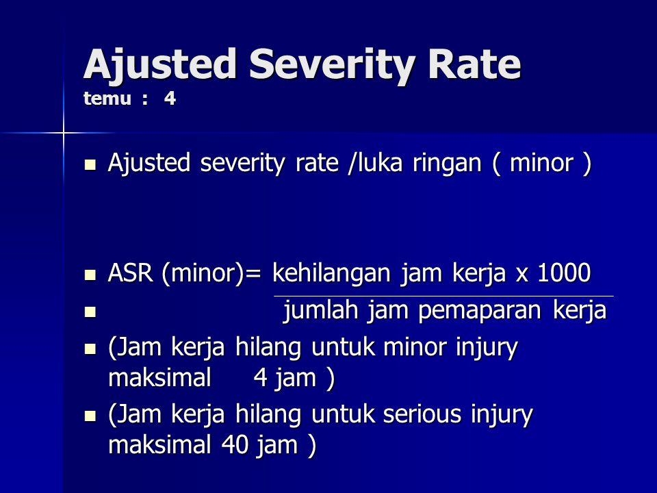 Ajusted Severity Rate temu : 4