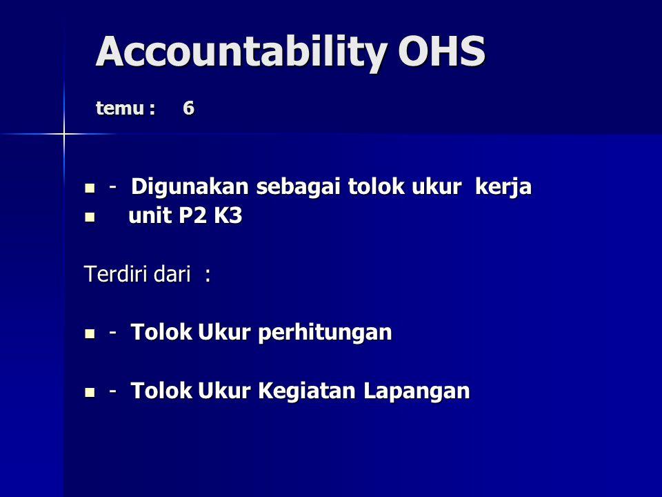 Accountability OHS temu : 6