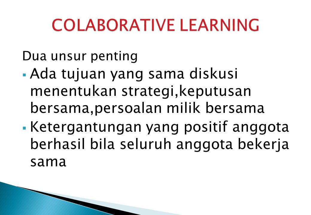 COLABORATIVE LEARNING