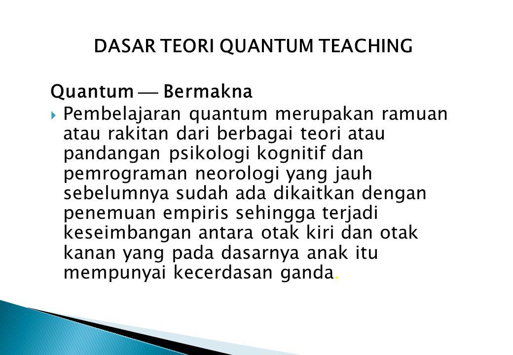 DASAR TEORI QUANTUM TEACHING