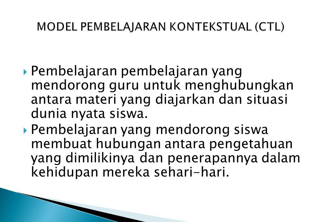 MODEL PEMBELAJARAN KONTEKSTUAL (CTL)