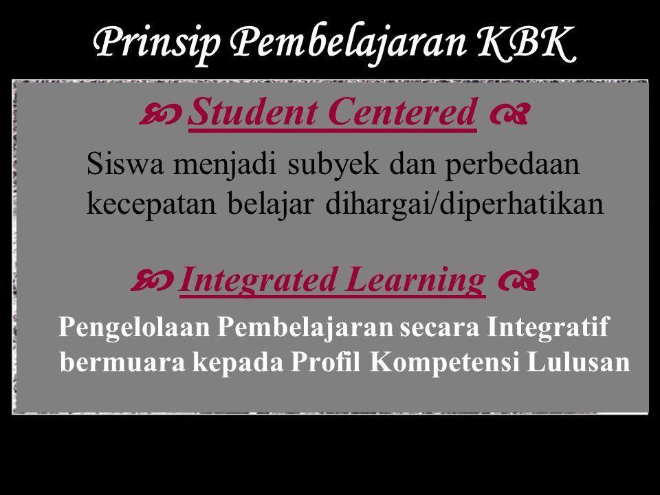 Prinsip Pembelajaran KBK