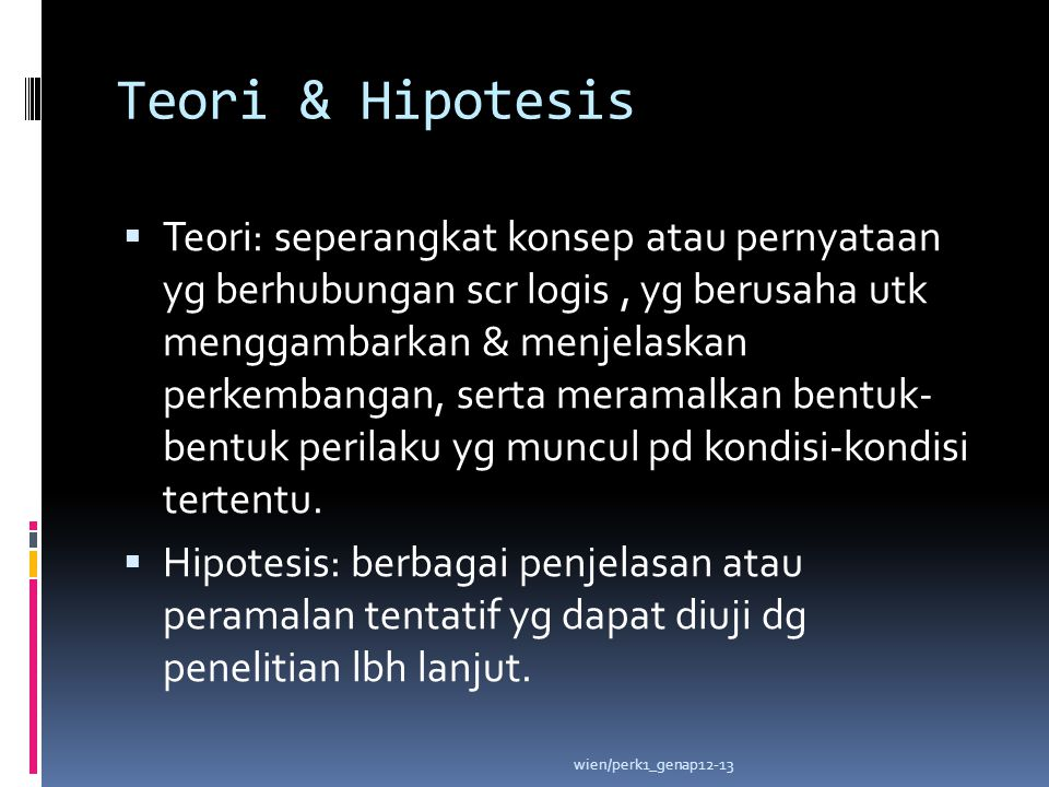 Teori & Hipotesis