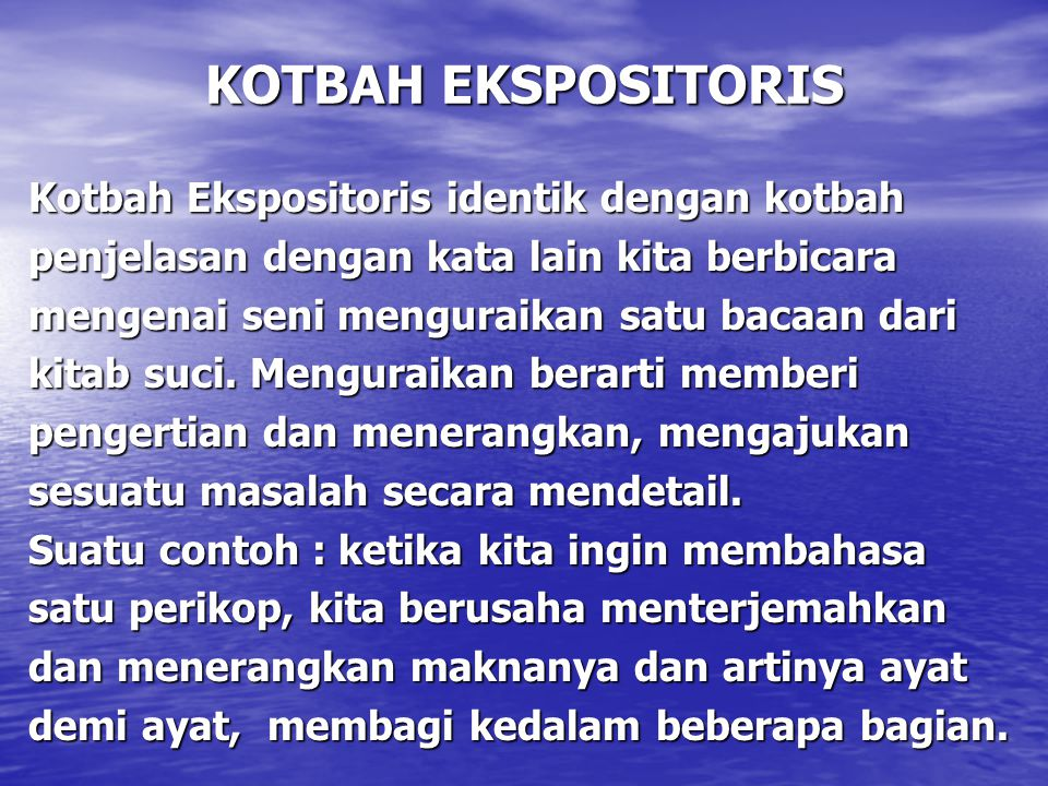 KOTBAH EKSPOSITORIS
