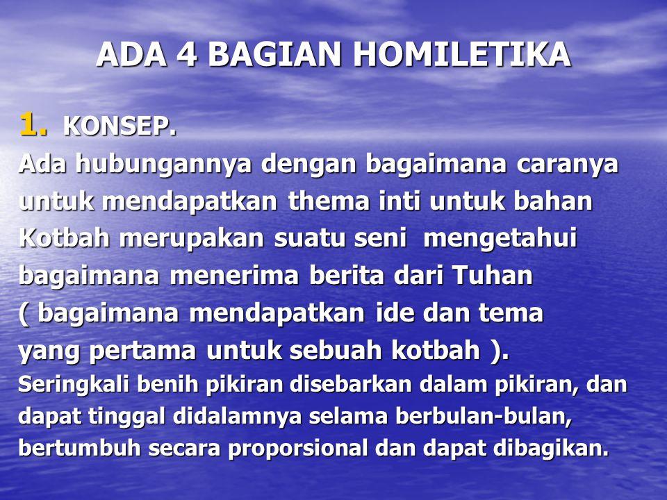 ADA 4 BAGIAN HOMILETIKA KONSEP.