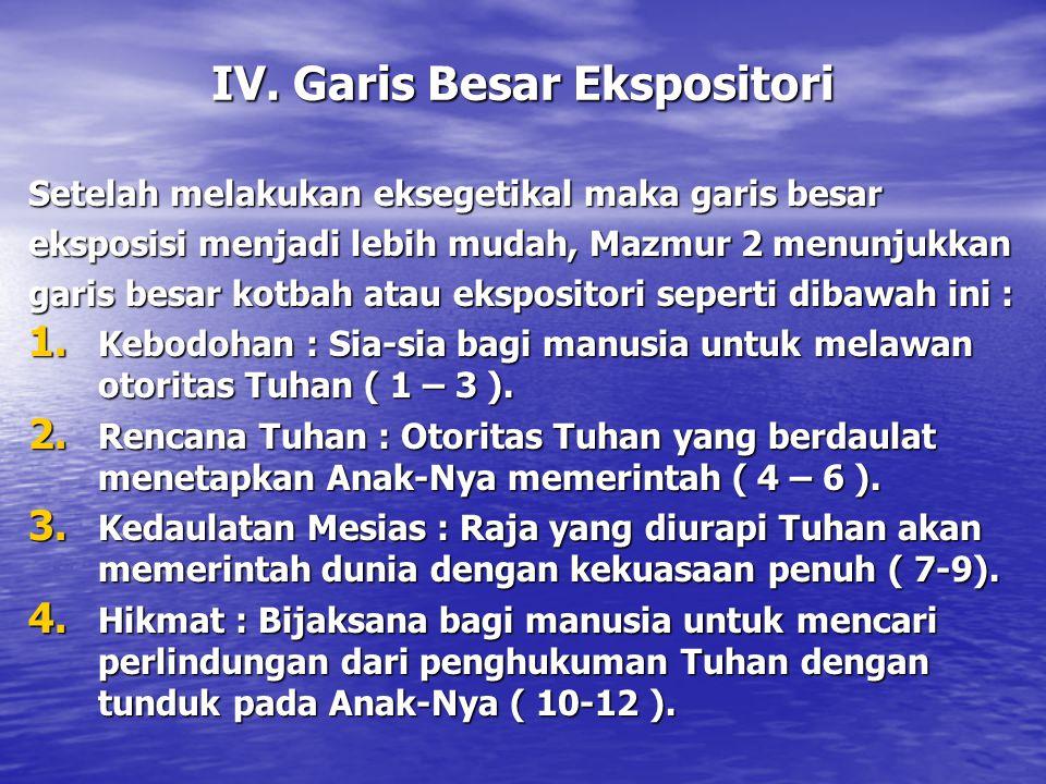 IV. Garis Besar Ekspositori