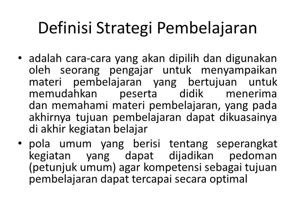 Definisi Strategi Pembelajaran