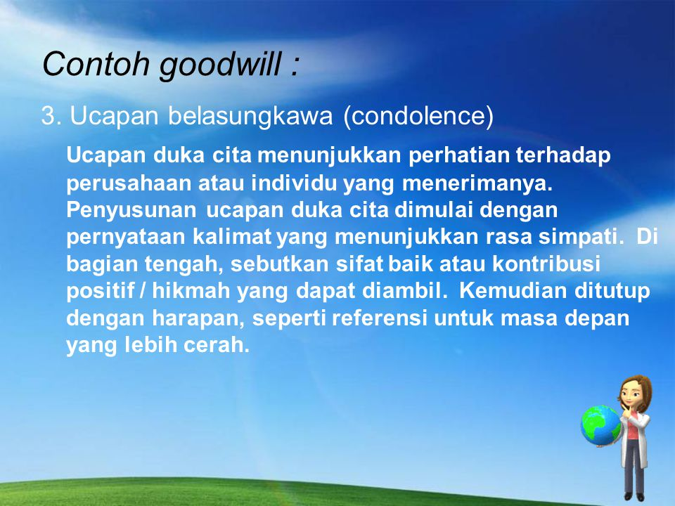 Contoh goodwill :