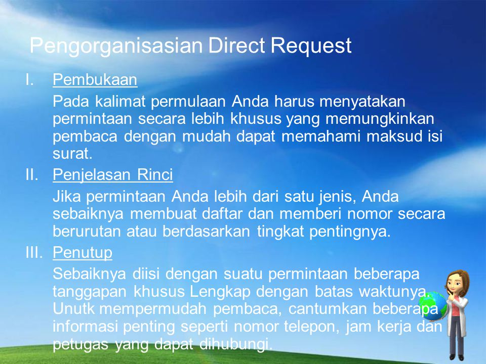 Pengorganisasian Direct Request