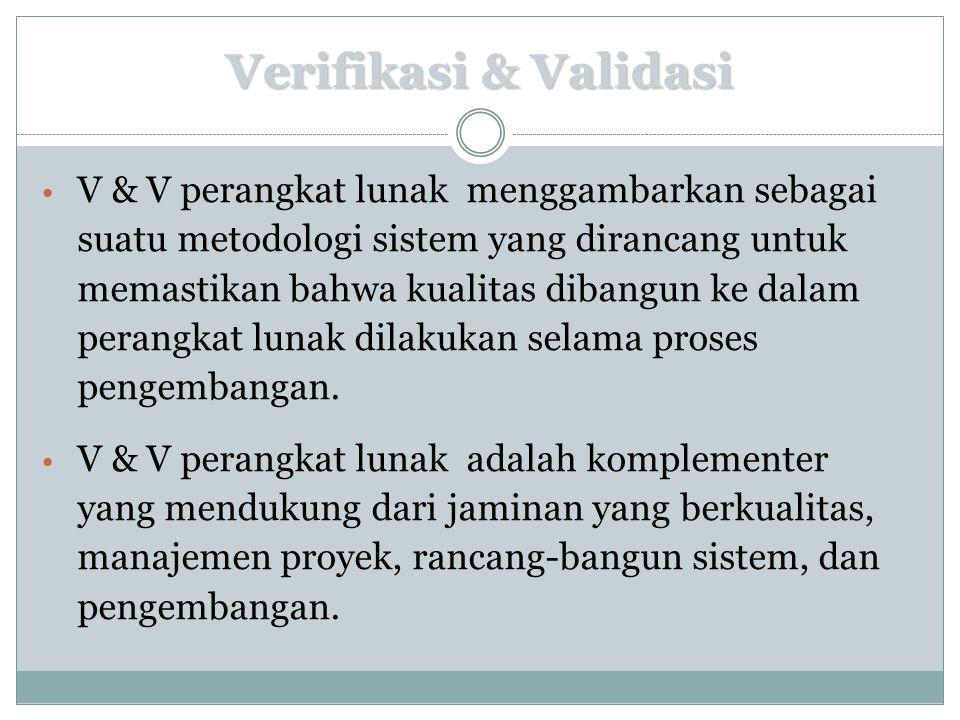 Verifikasi & Validasi