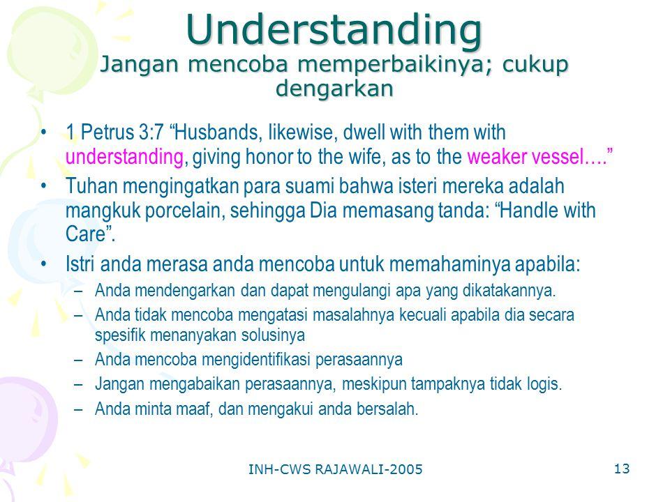 Understanding Jangan mencoba memperbaikinya; cukup dengarkan