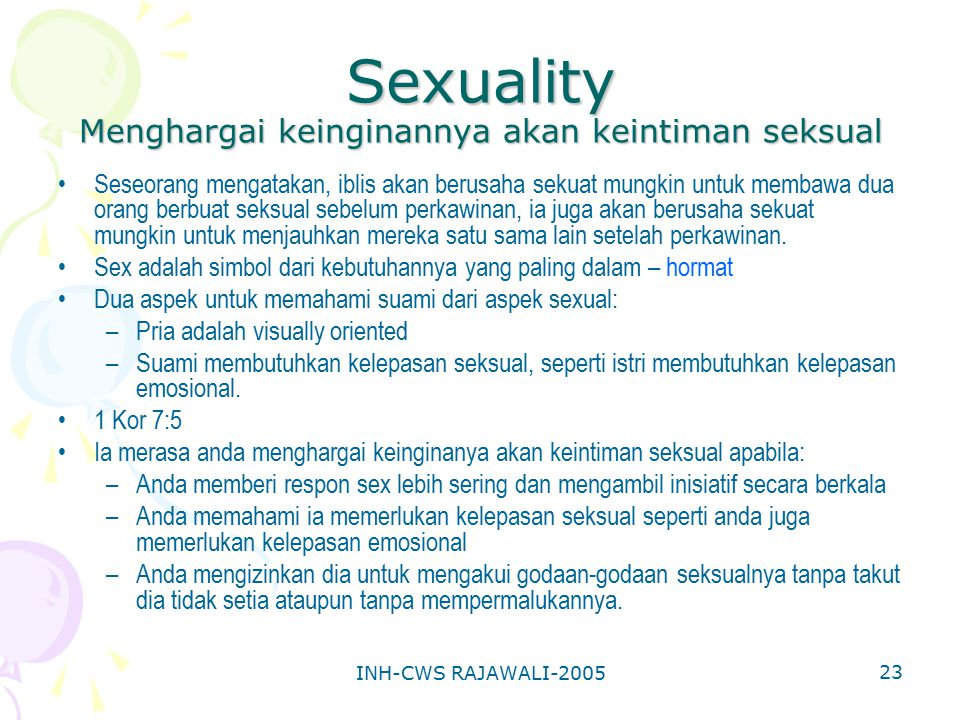 Sexuality Menghargai keinginannya akan keintiman seksual