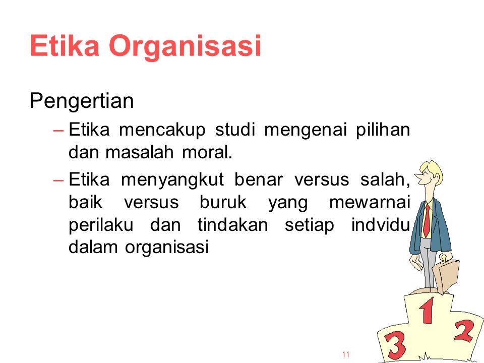 Etika Organisasi Pengertian