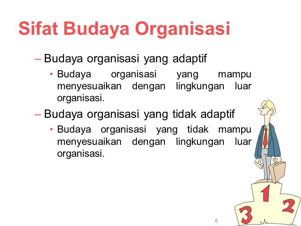 Sifat Budaya Organisasi