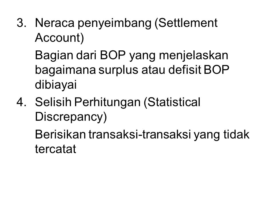 Neraca penyeimbang (Settlement Account)
