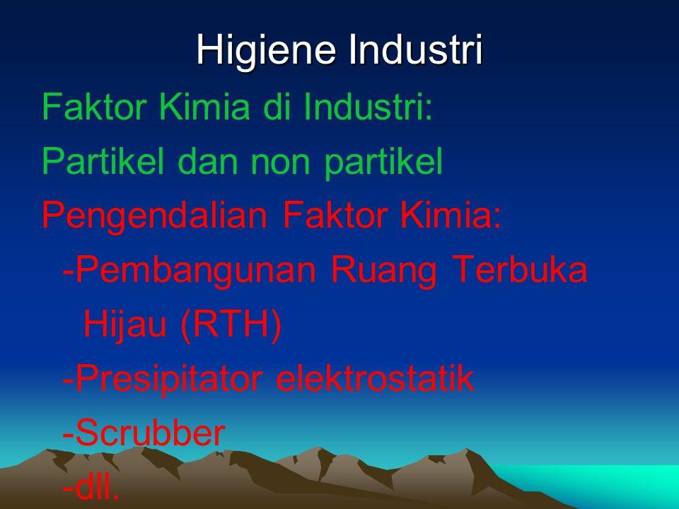 Higiene Industri Faktor Kimia di Industri: Partikel dan non partikel