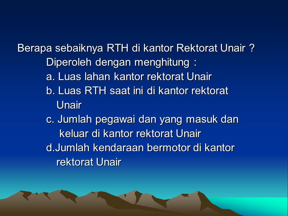 Berapa sebaiknya RTH di kantor Rektorat Unair
