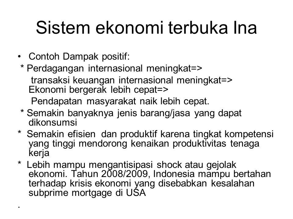 Sistem ekonomi terbuka Ina