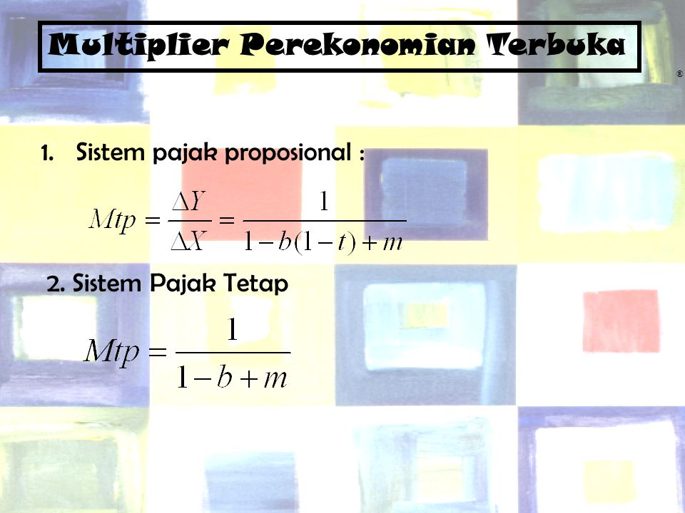 Multiplier Perekonomian Terbuka