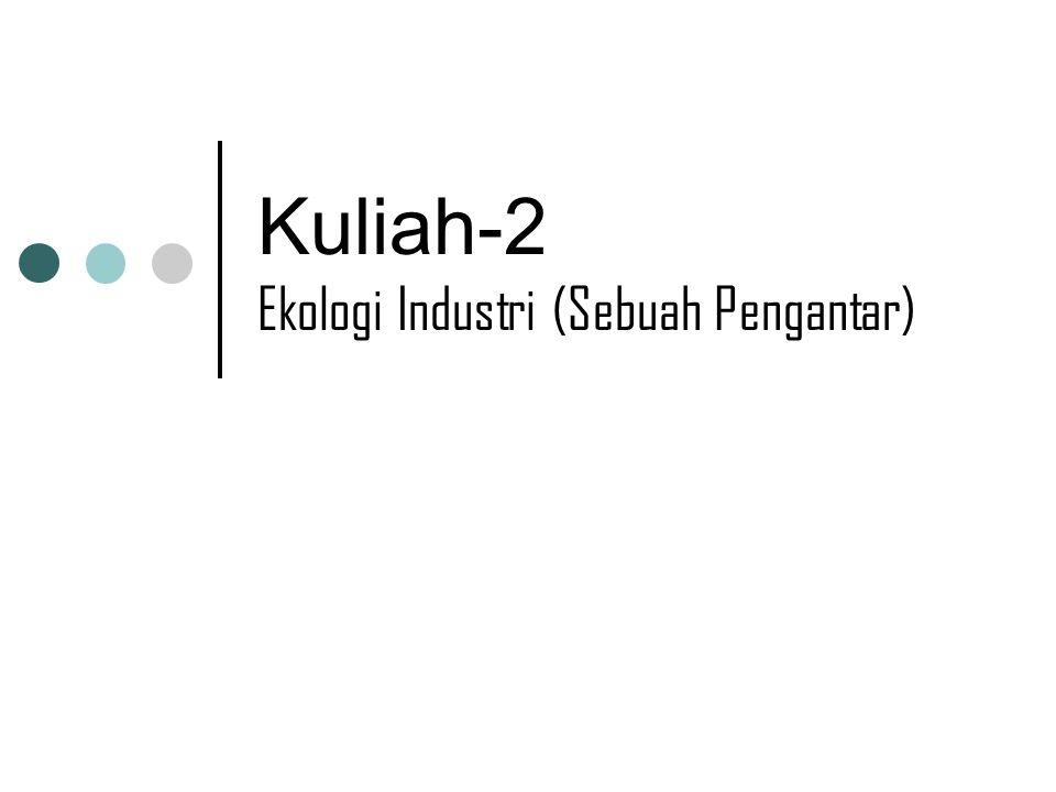 Kuliah-2 Ekologi Industri (Sebuah Pengantar)