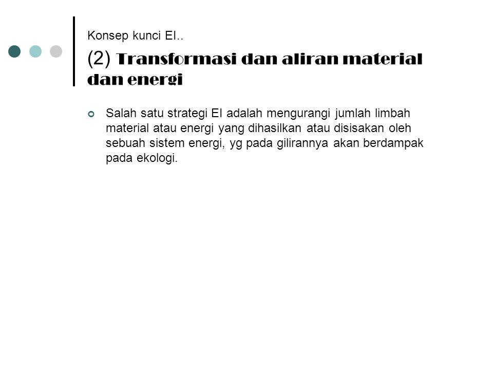 Konsep kunci EI.. (2) Transformasi dan aliran material dan energi
