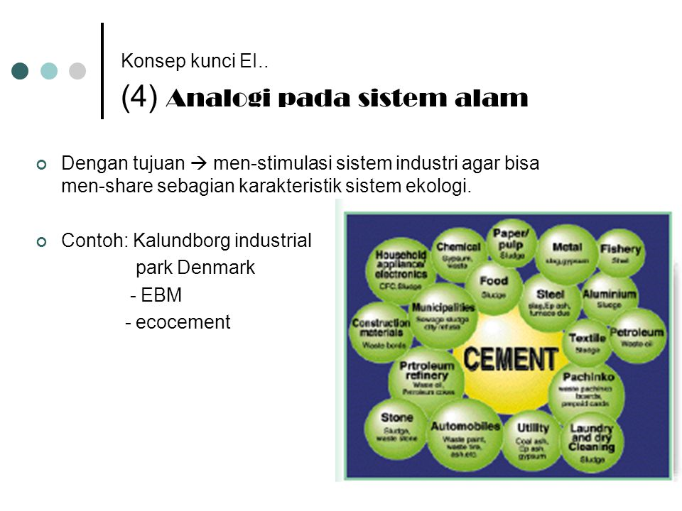 Konsep kunci EI.. (4) Analogi pada sistem alam