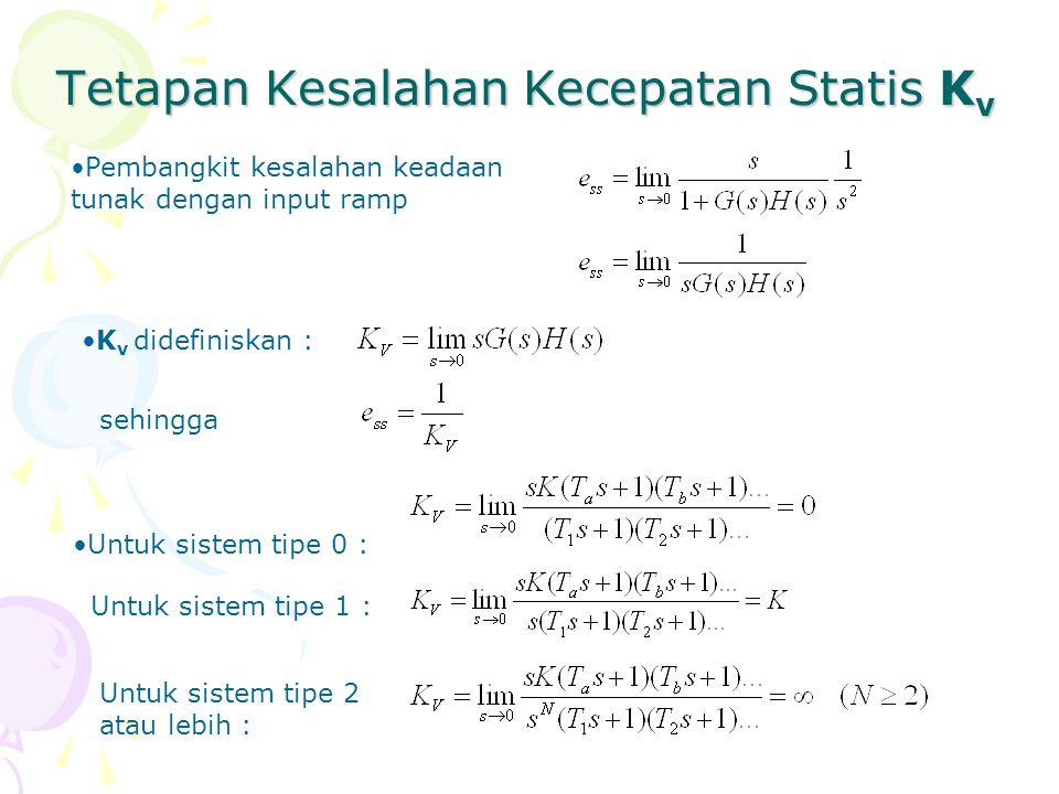 Tetapan Kesalahan Kecepatan Statis Kv