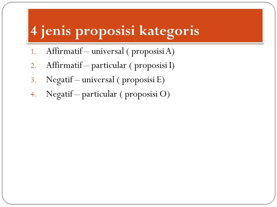 4 jenis proposisi kategoris